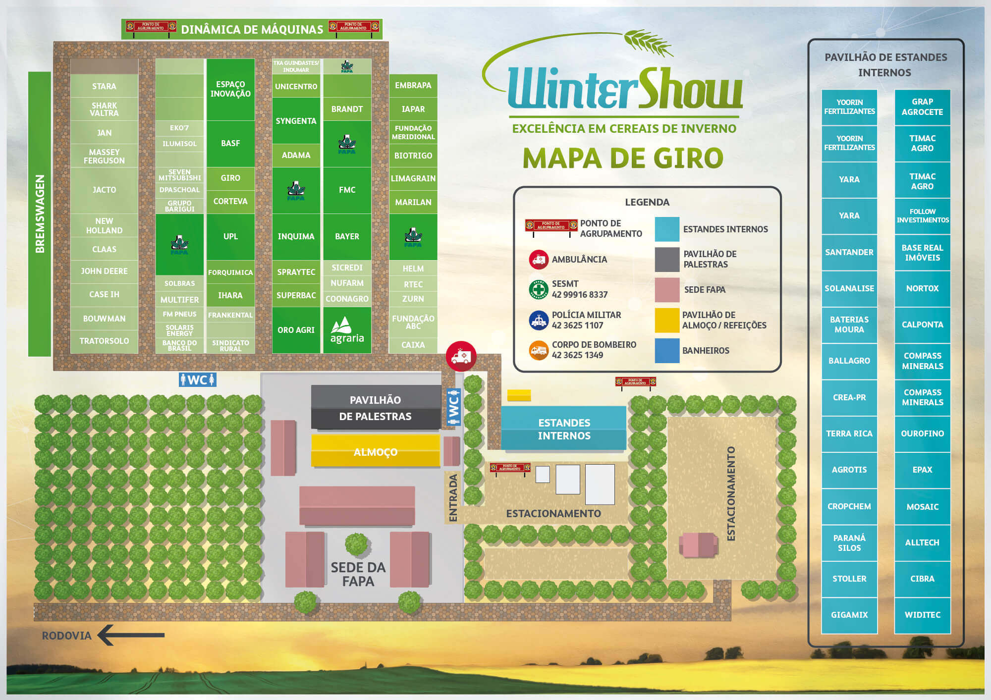 Mapa do Evento -  WinterShow 2019